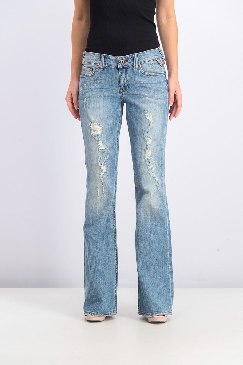 Women's Freedom Flare Jeans, Mechanic Blue