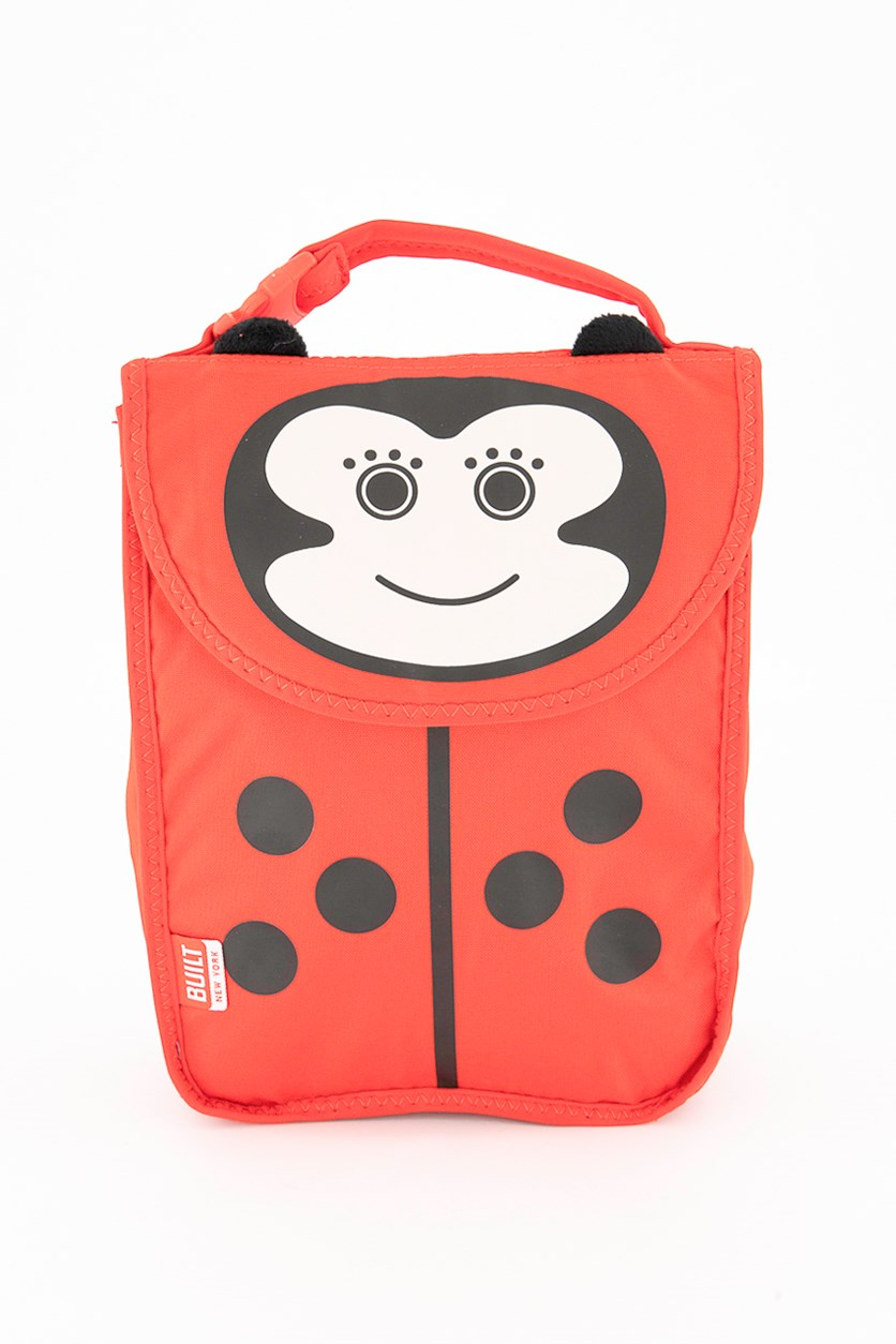 Kids Girls Reusable Insulated Lunch Box, Red