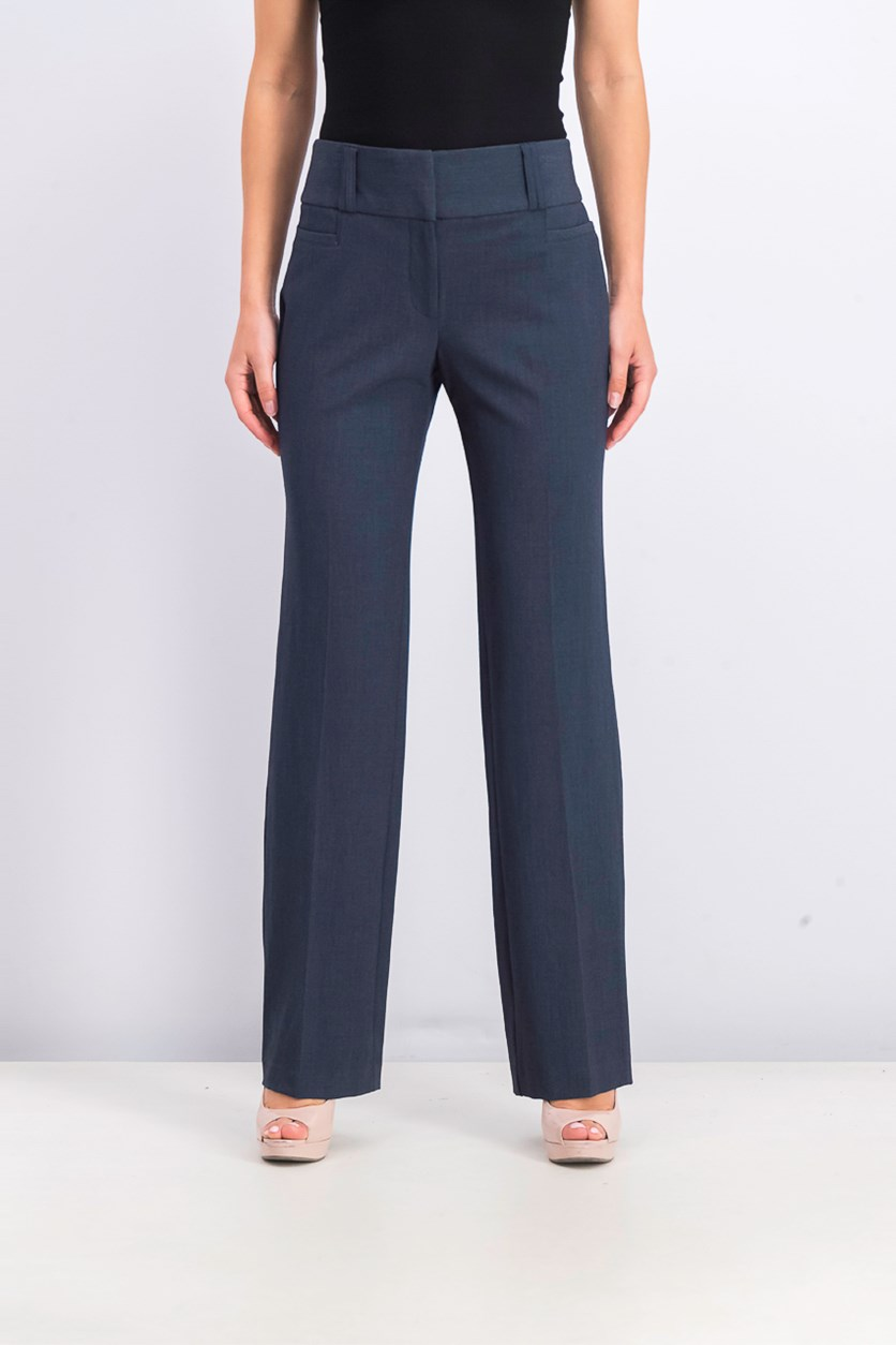 Womens  Juniors' Magic-Waist Trousers, Denim