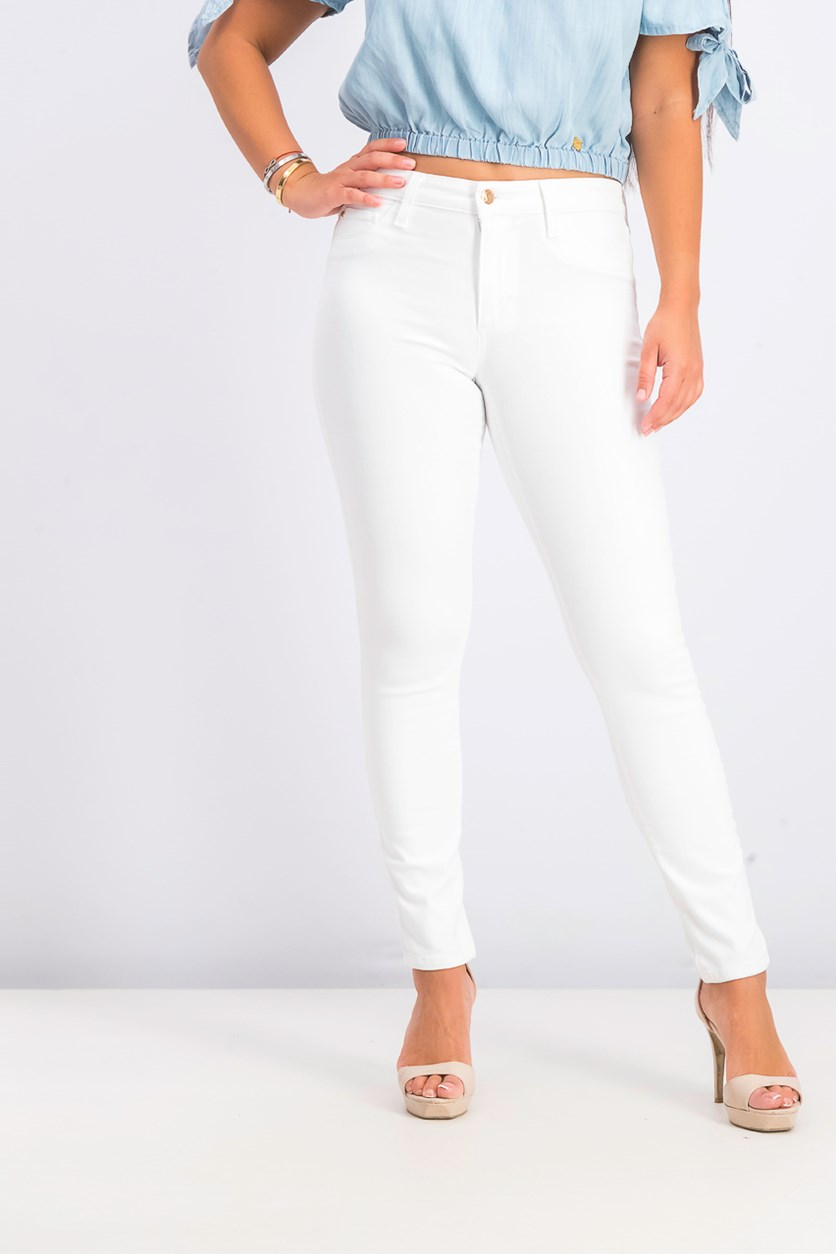 Women's Mid Rise Skinny Ankle, White