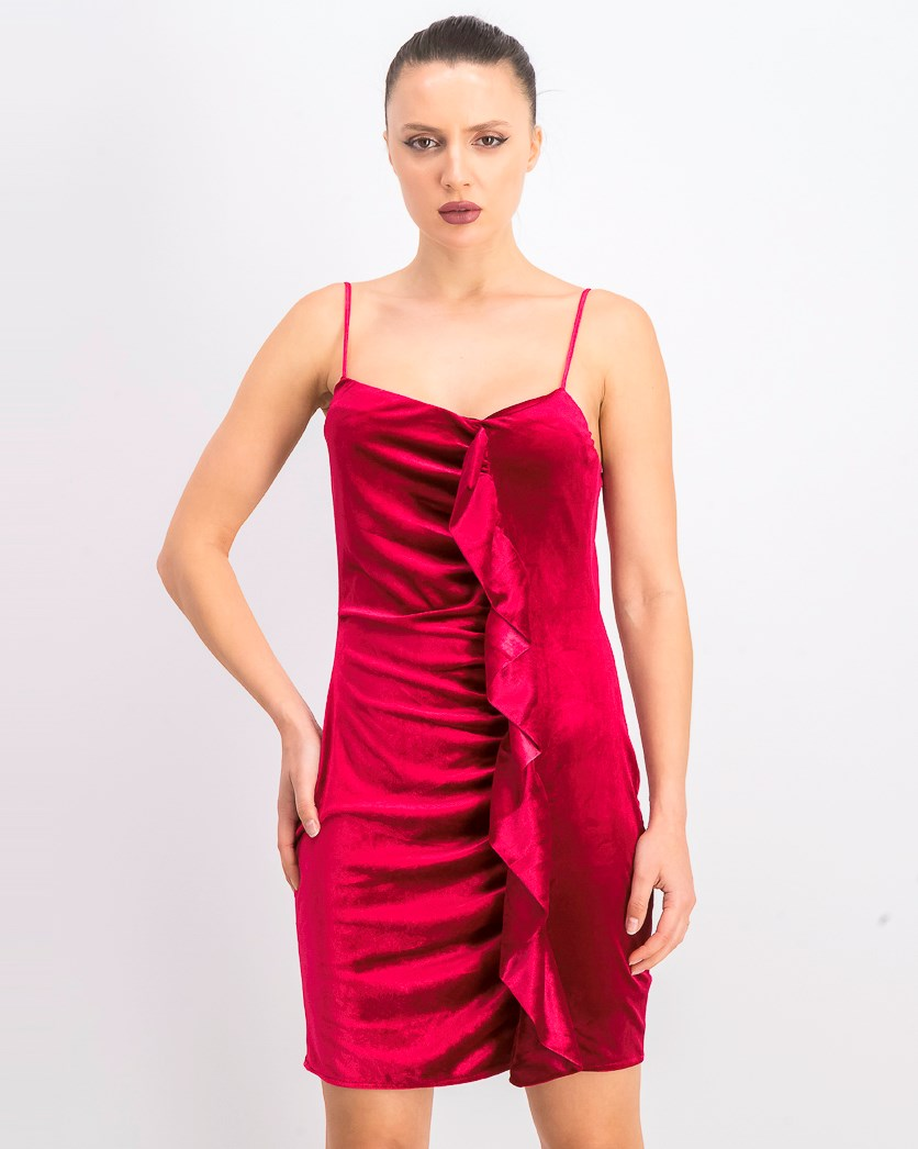 Women's Velvet Sleeveless Dress, Vivacious