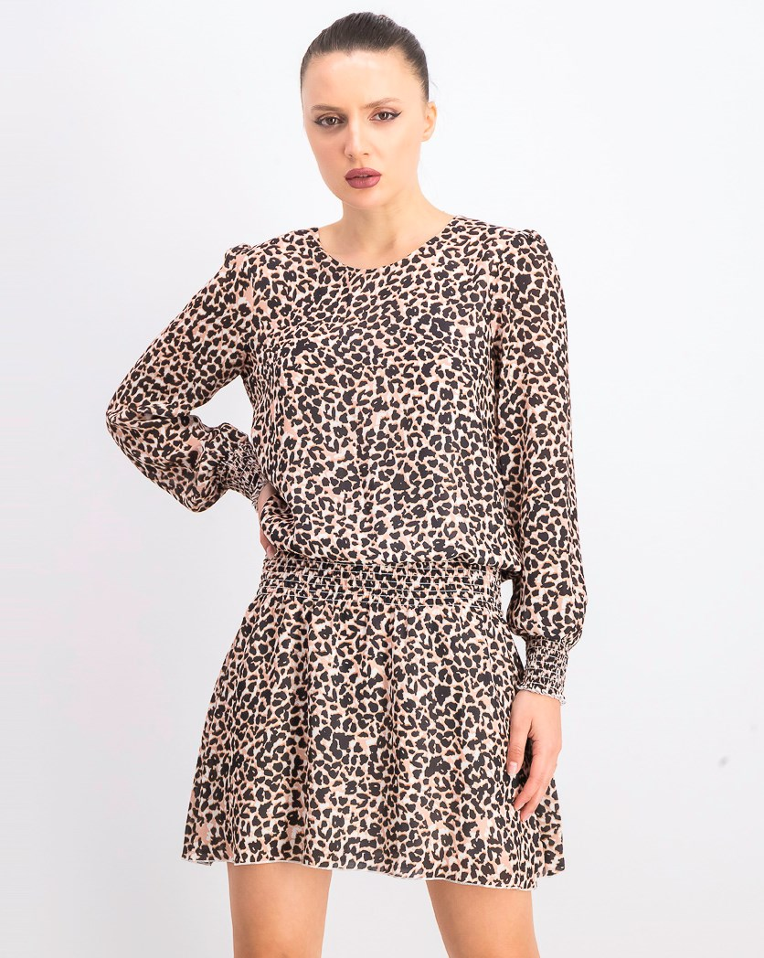 Women's Printed Dropwaist Dress, Panther Black Combo