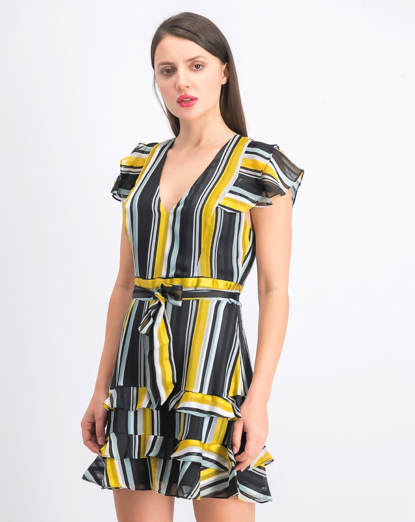 Women's Elijah Dress, Raya Black/Yellow Combo