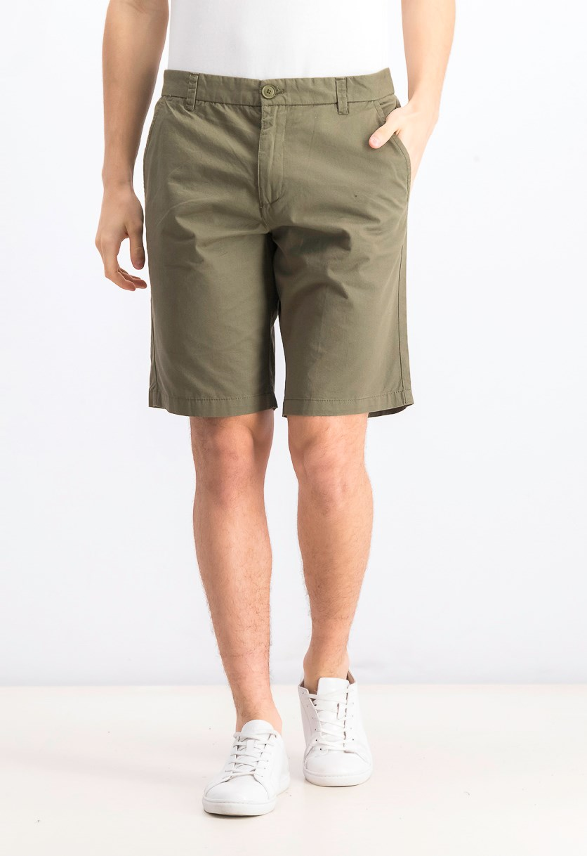 Men's Belted Chino Short, Olive