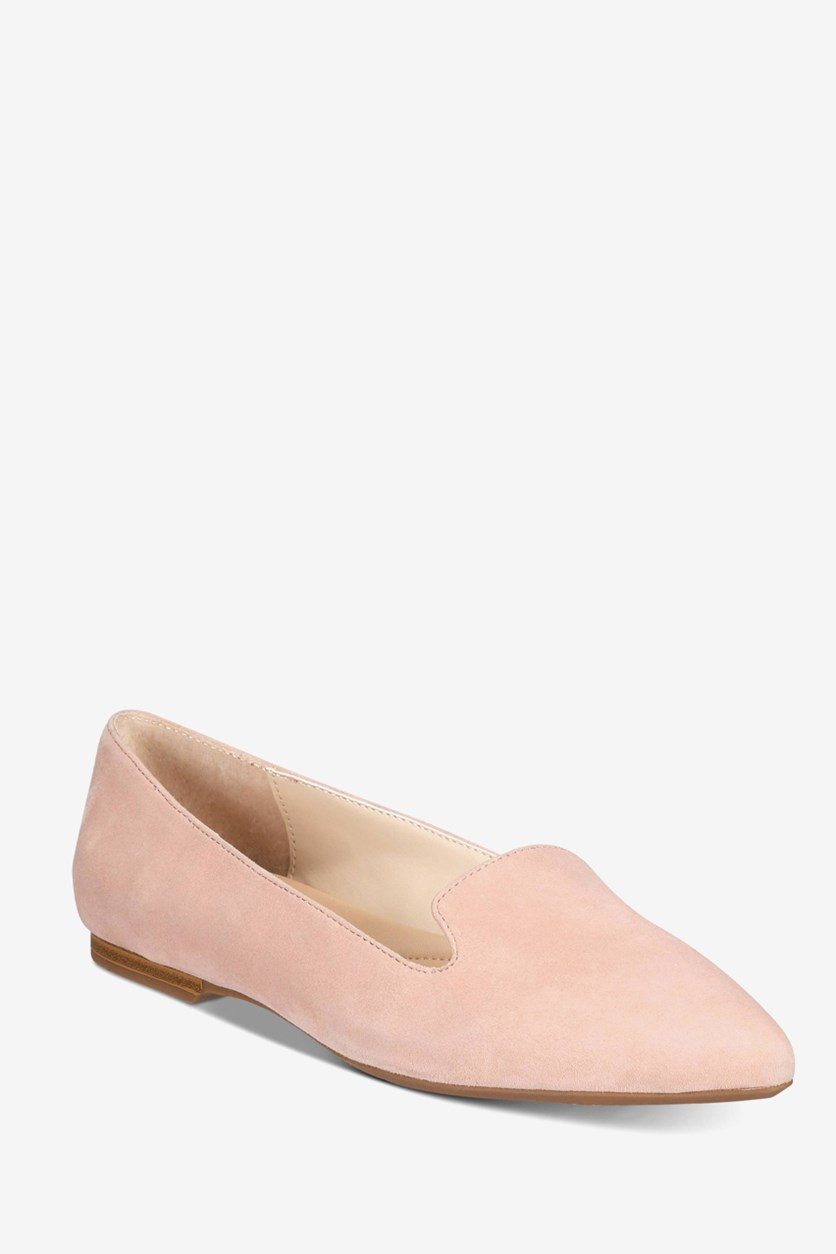 Women's Poeel Suede Pointed Toe Loafers, Blush