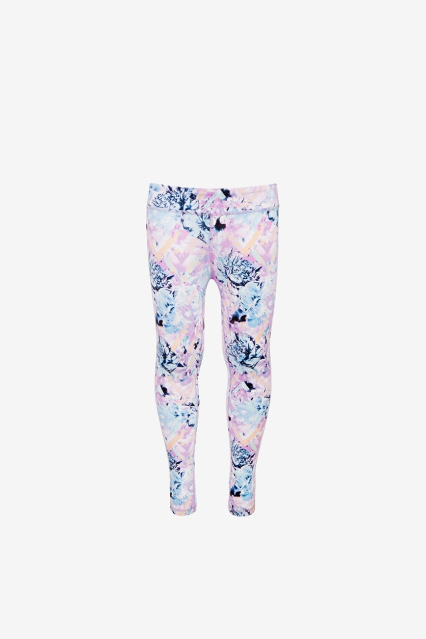 Big Girls Floral-Print Leggings, Abstract Flower