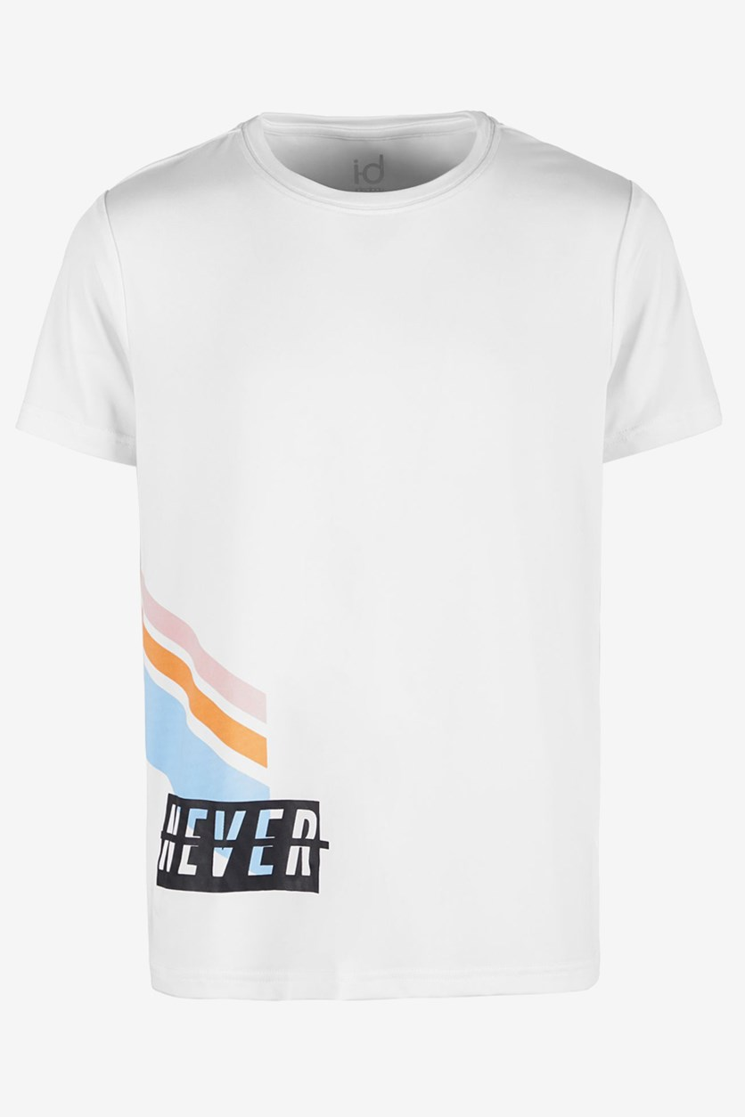 Big Boys Never Graphic T-Shirt, Bright White