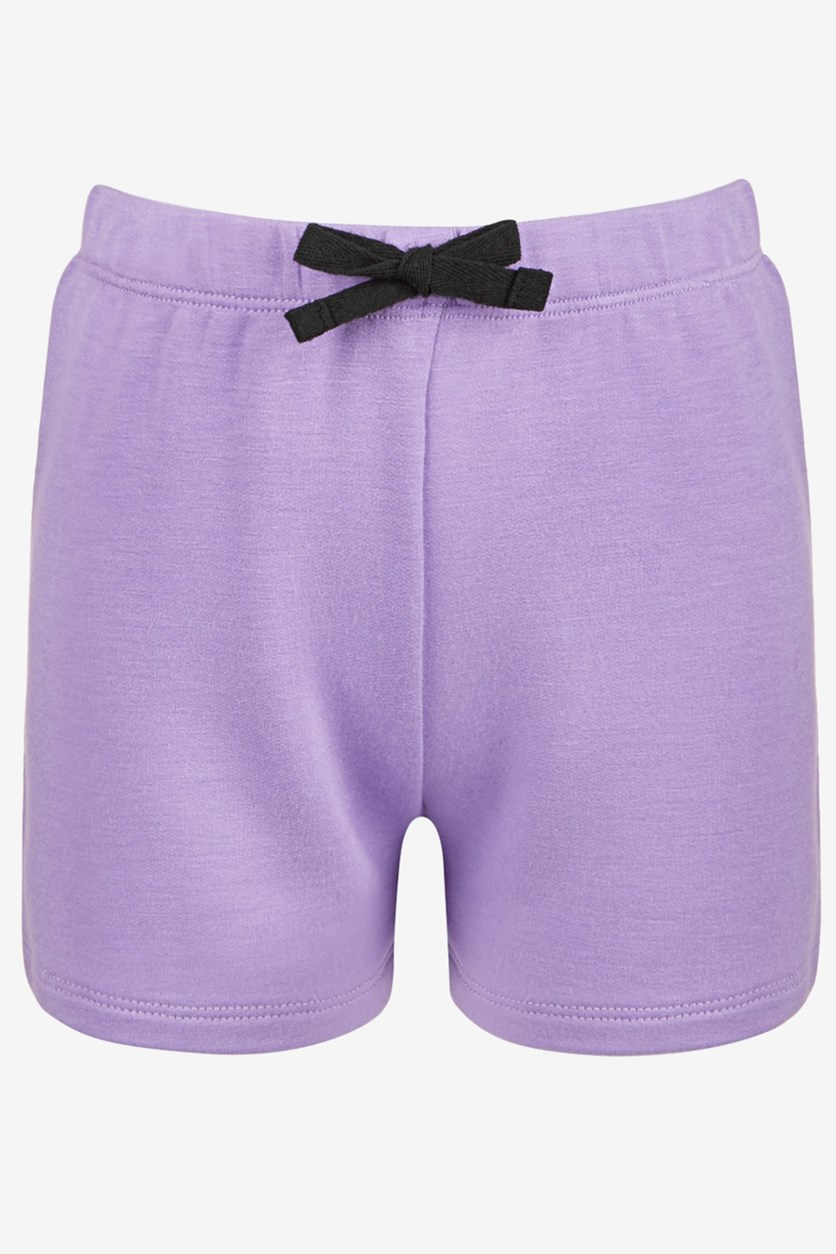 Little Girls Bow-Waist Shorts, Beach Plum