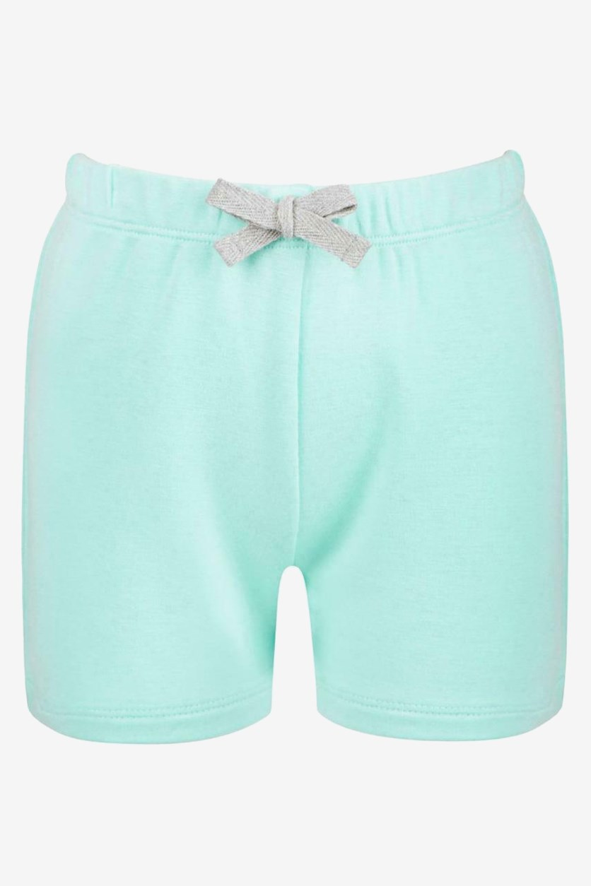Toddler Girls Bow-Waist Shorts,  Blue Light