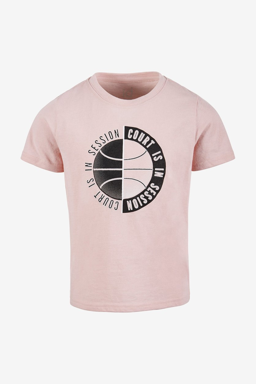 Little Boys in Session Graphic T-Shirt, Chalky Rose
