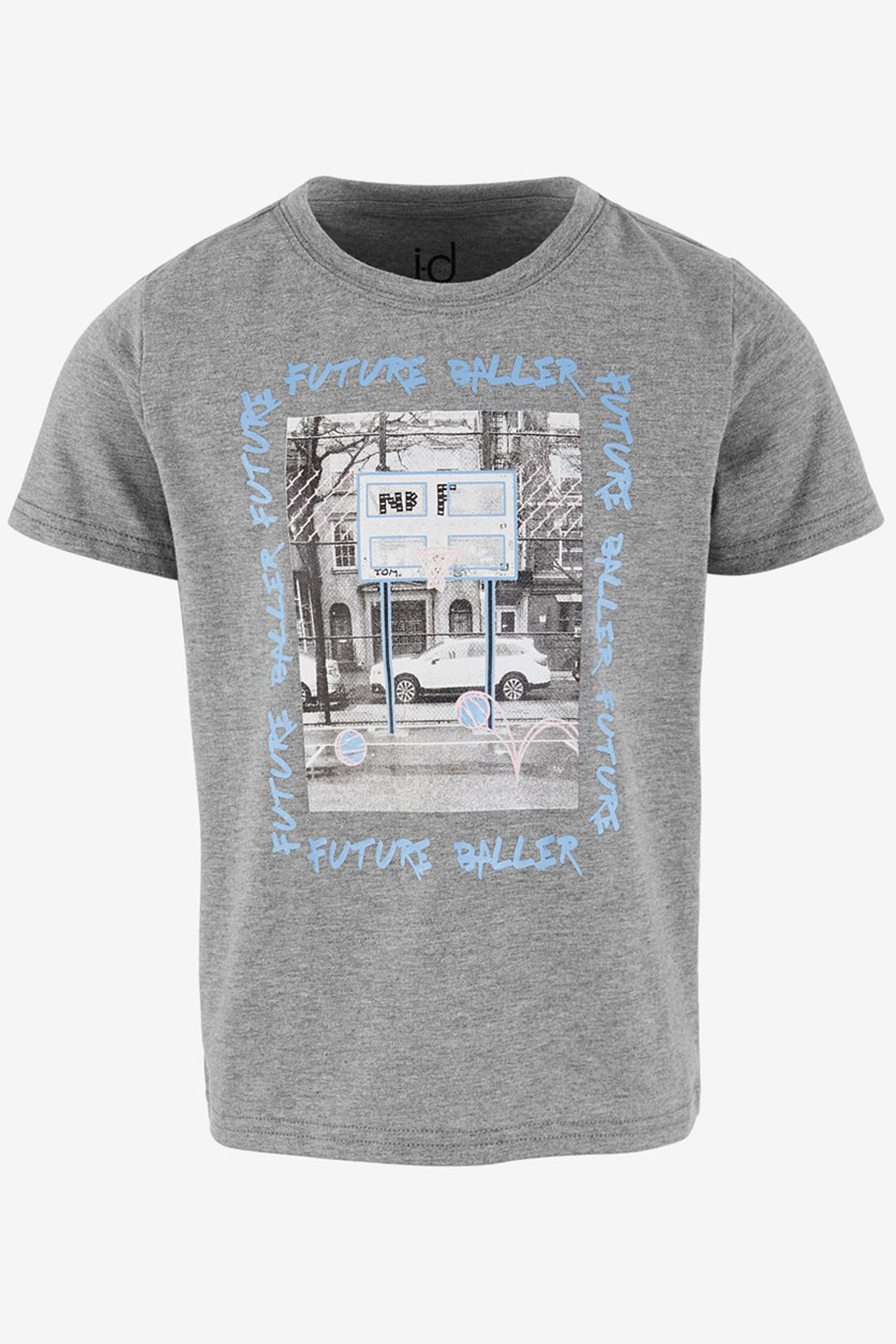 Toddlers Graphic T-shirts, Grey