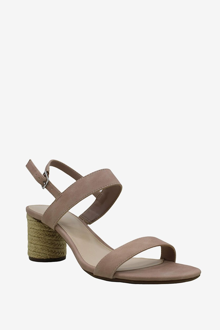 Women's Brooklin Leather Open Toe Casual Ankle Strap, Blush