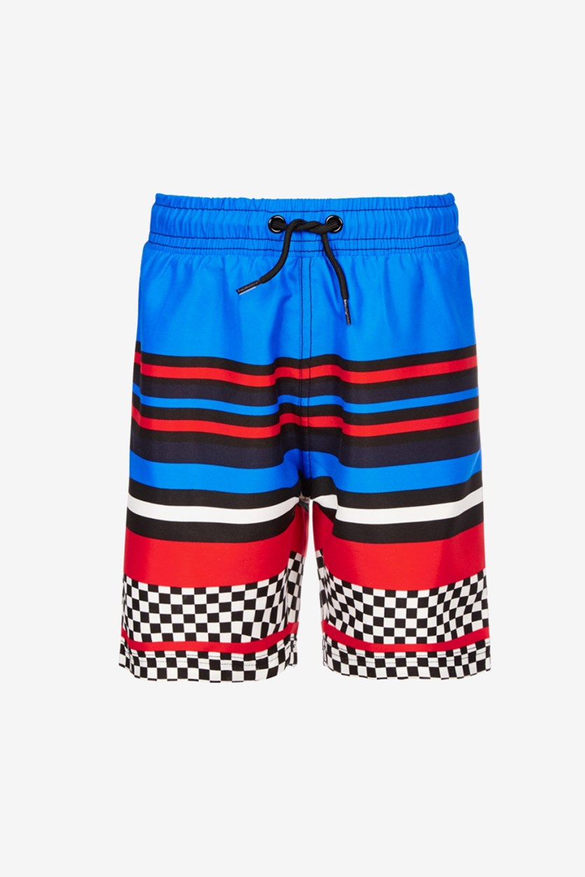 Boys Striped Swim Trunks, Recer Stripes