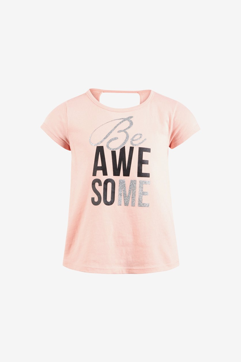 Toddler Girls Graphic Print Top, Awesome Pink