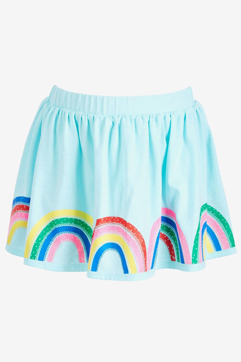 Toddler Girls Rainbow Border Skirt, Limpet Shell