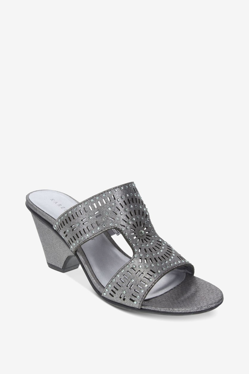 Women's Kendra Open Toe Casual Slide Sandals, Grey