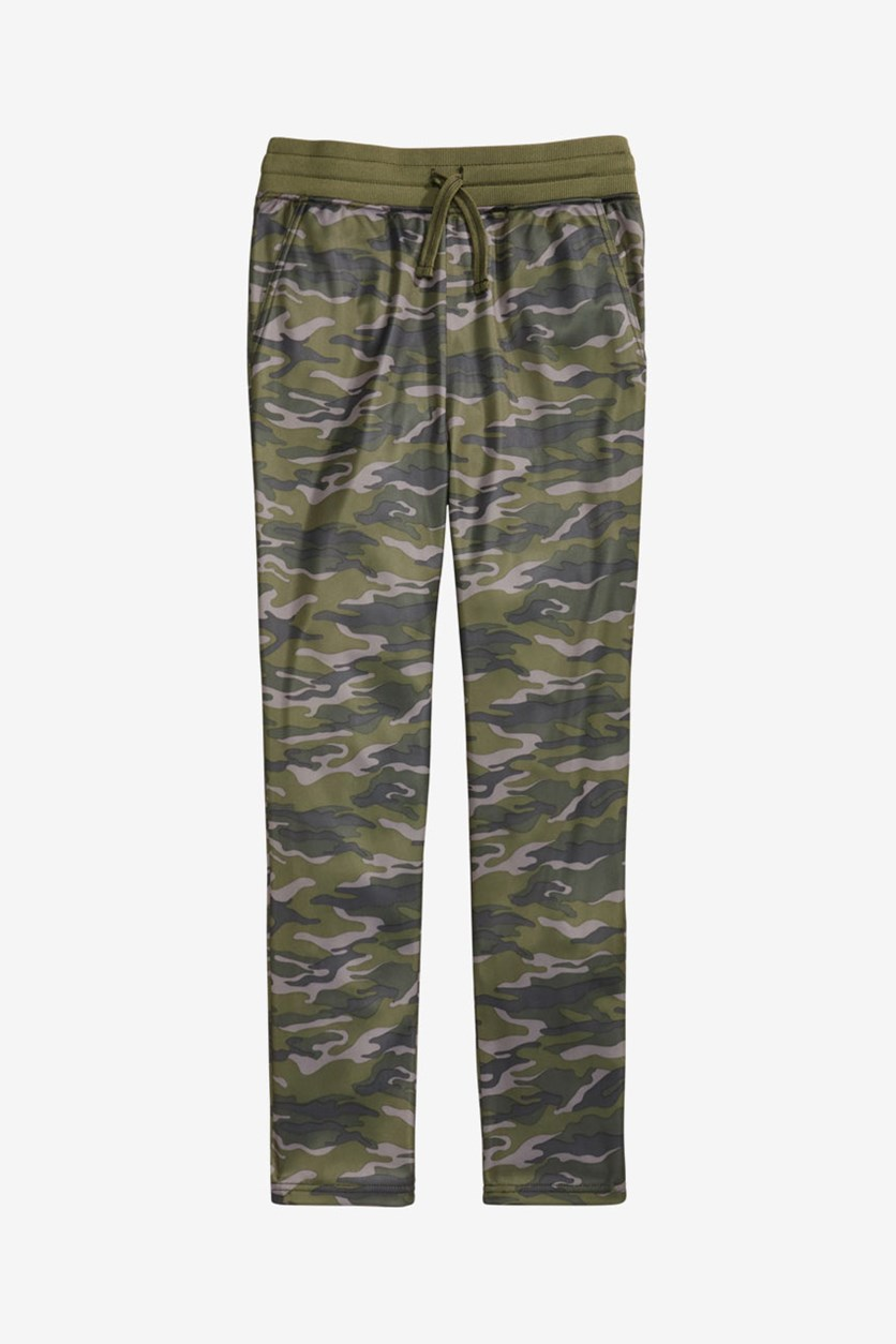 Big Boy's Camouflage Tricot Pants, Camo
