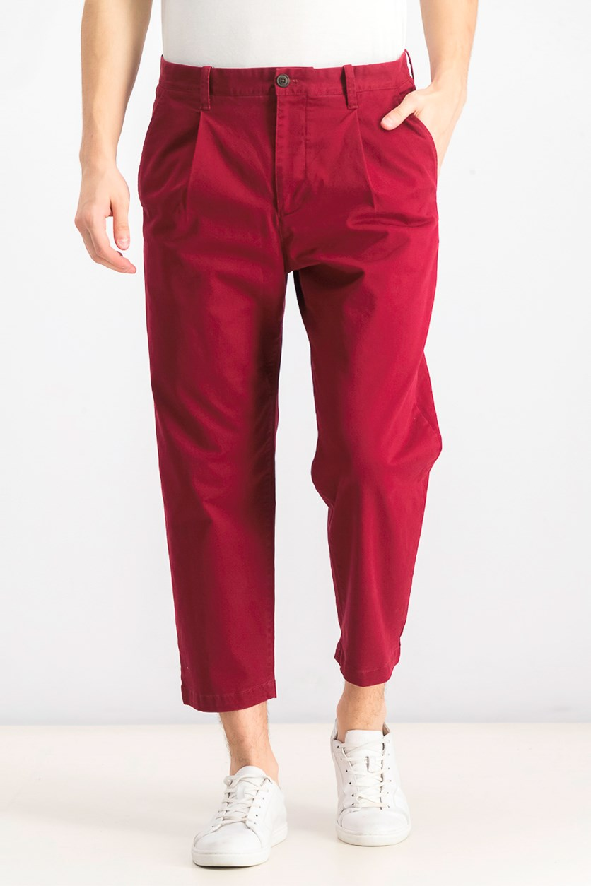 Men's Chino Pants, Maroon