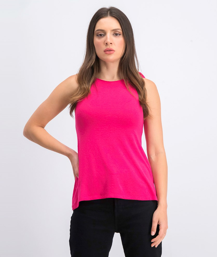 Women's Sleeveless Top, Fuchsia Pink
