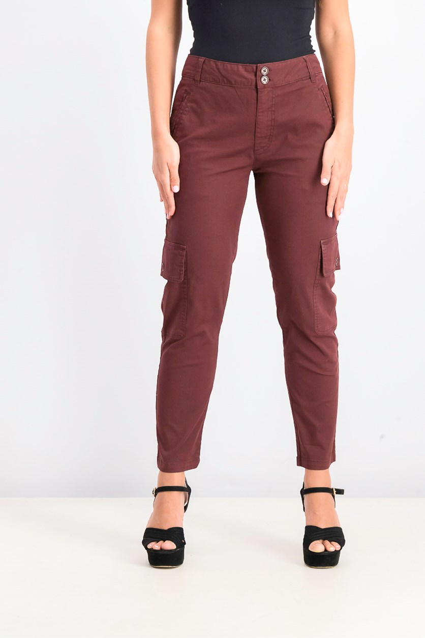 Women's Cargo Pants, Maroon