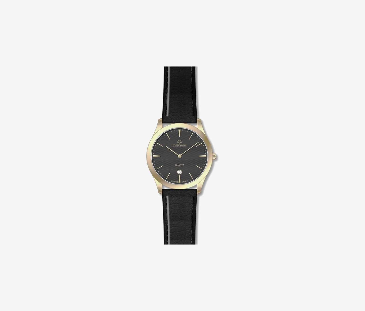 Men's 1691-GLB Analog Watches, Black/Gold
