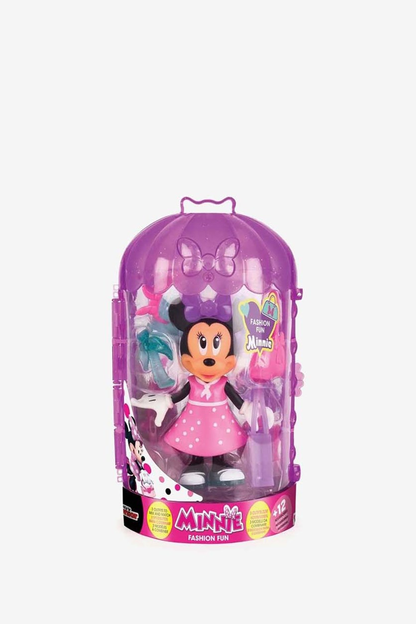 Fashion Fun Minnie Dressing Playset, Pink/Purple