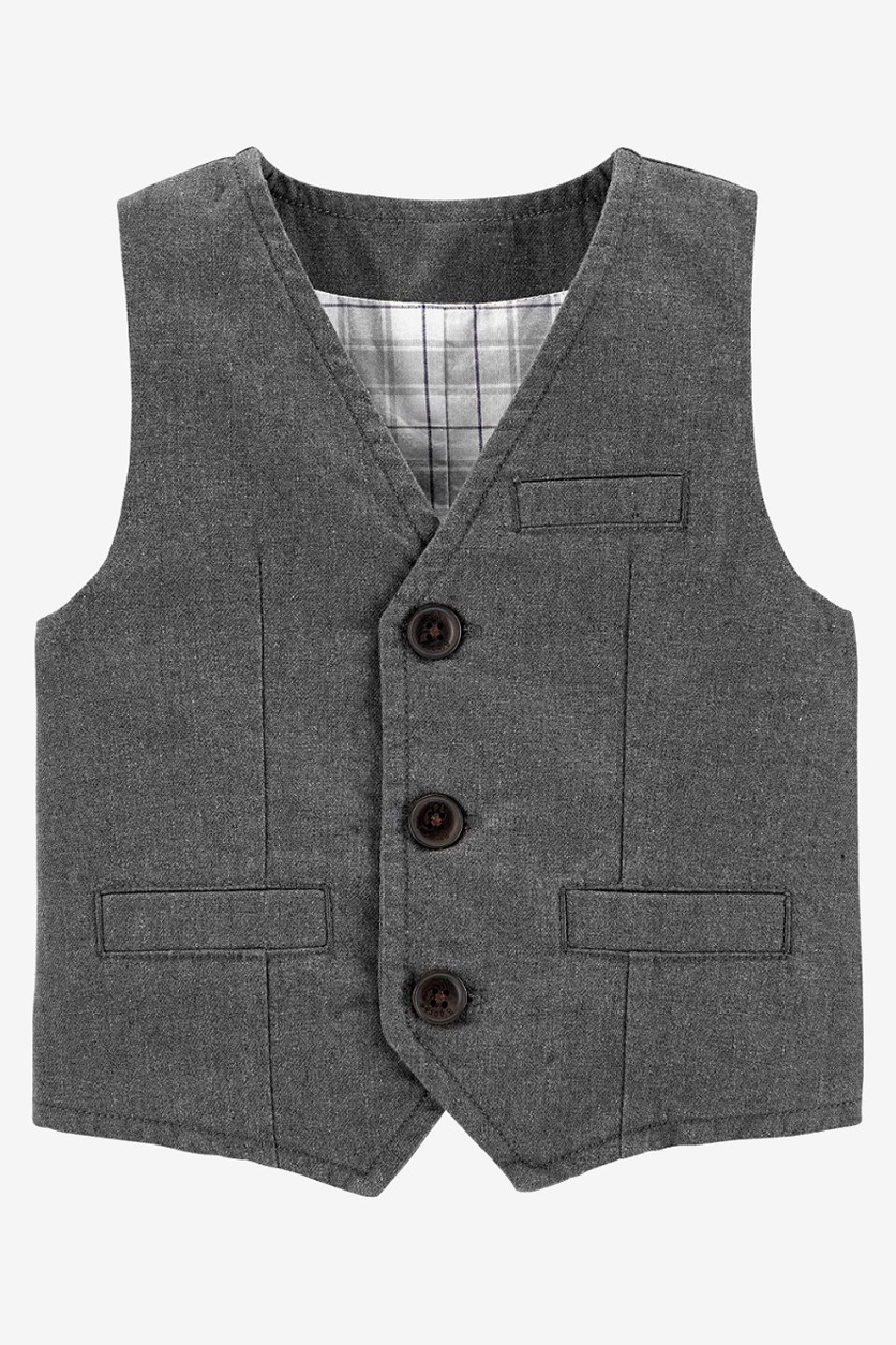 Baby Boy's Vest, Grey Heather