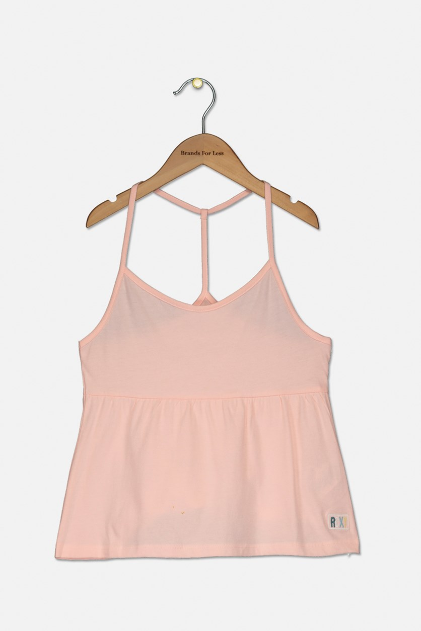 Big Girls Very Sweet Cotton Top, Peach