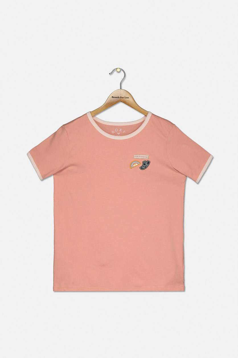 Kids Girl's Love Break T-Shirt, Pink