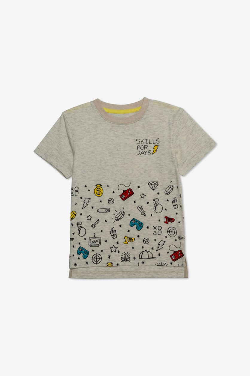 Toddler Boys Skills For Days Graphic T-Shirt, Oatmeal