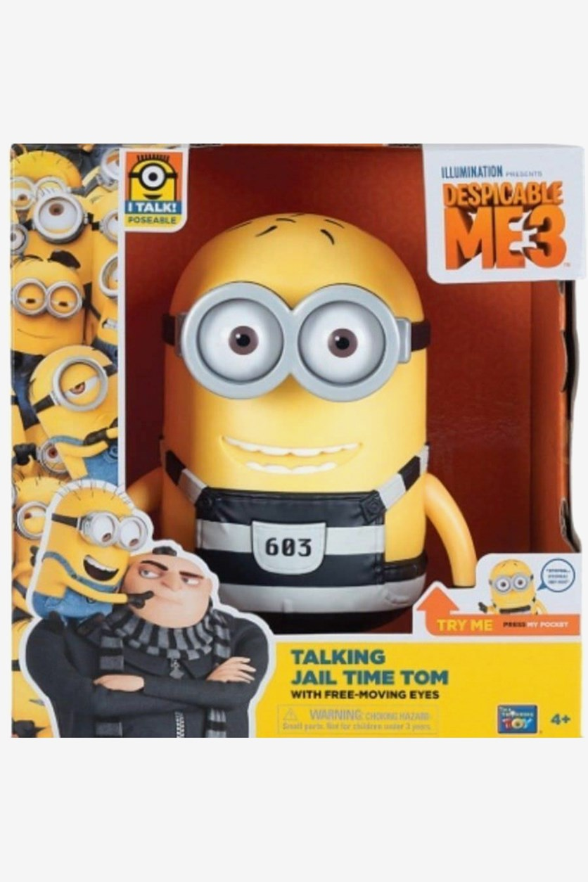 Despicable Me 3 Talking Jail Time Tom, Yellow/Grey