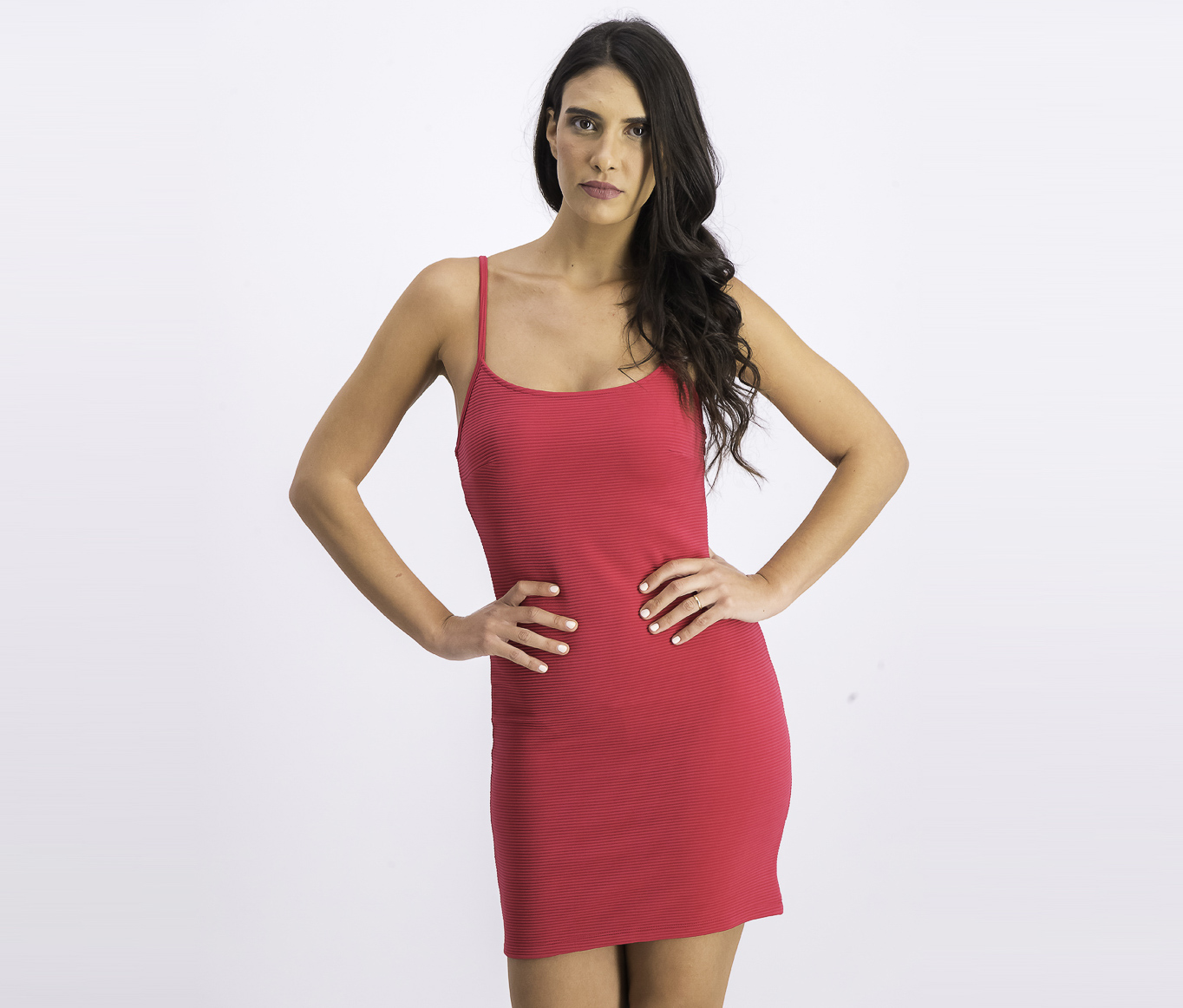 Women's Sleeveless Bodycon Dress, Fuchsia
