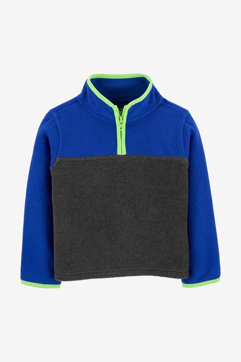 Little Boy's Colorblock Jacket, Navy/Blue