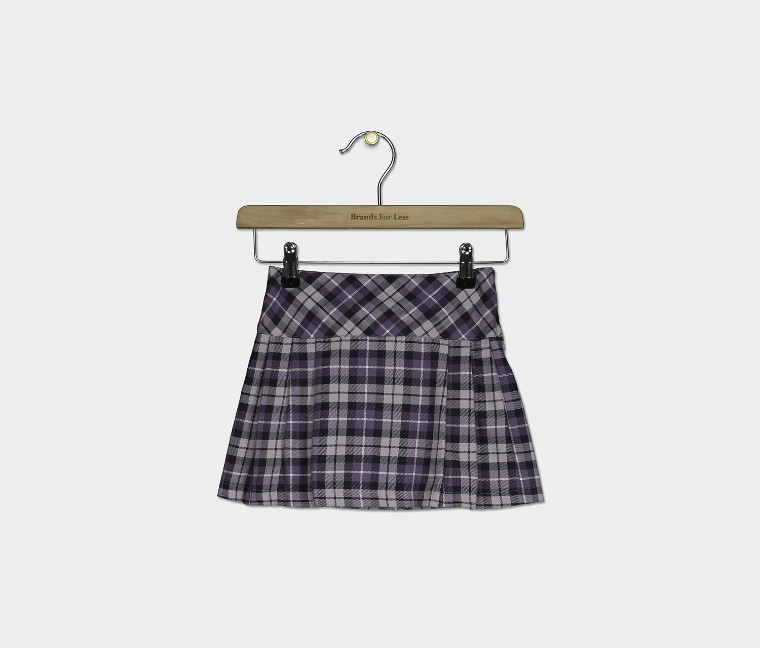 Kids Girls Plaid Skirt, Purple