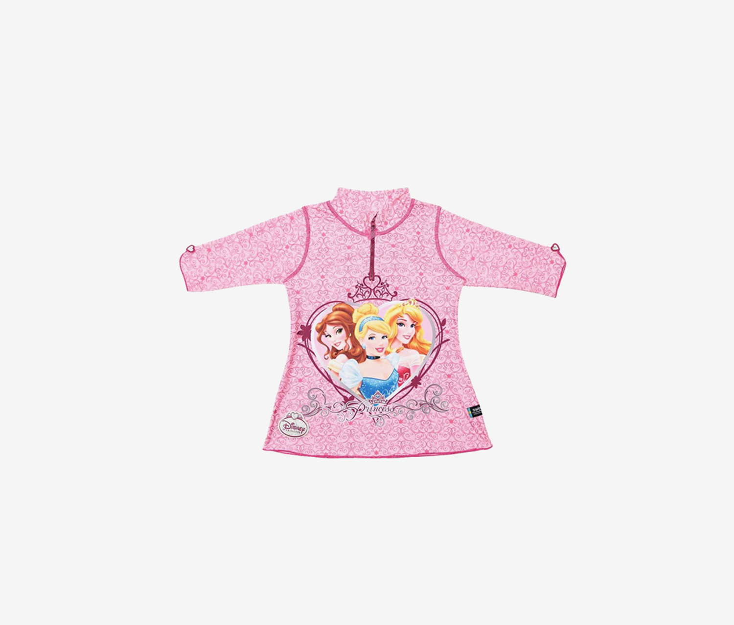 Girls Princess Rash Guard, Pink