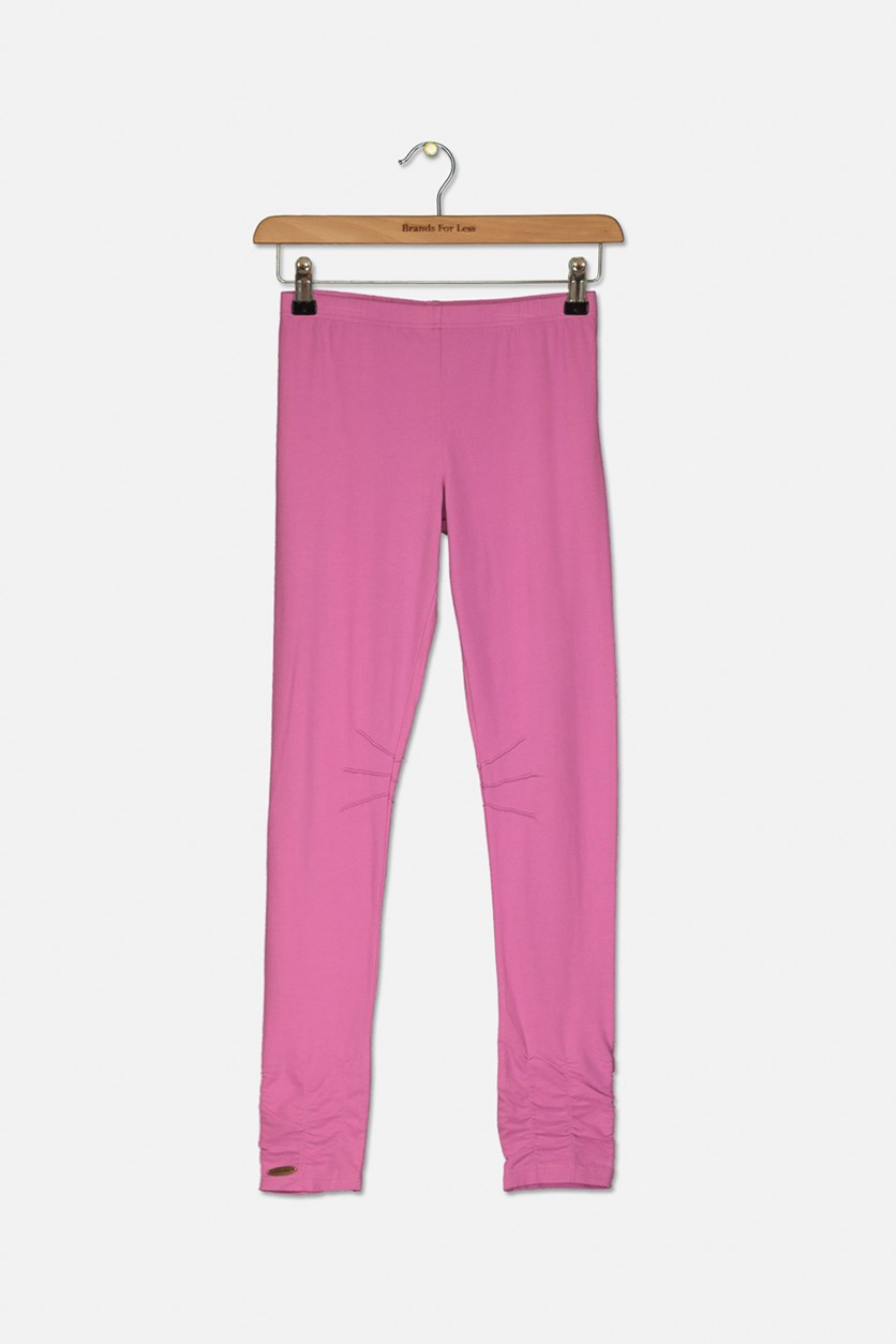 Girl's Pull On Leggings, Pink