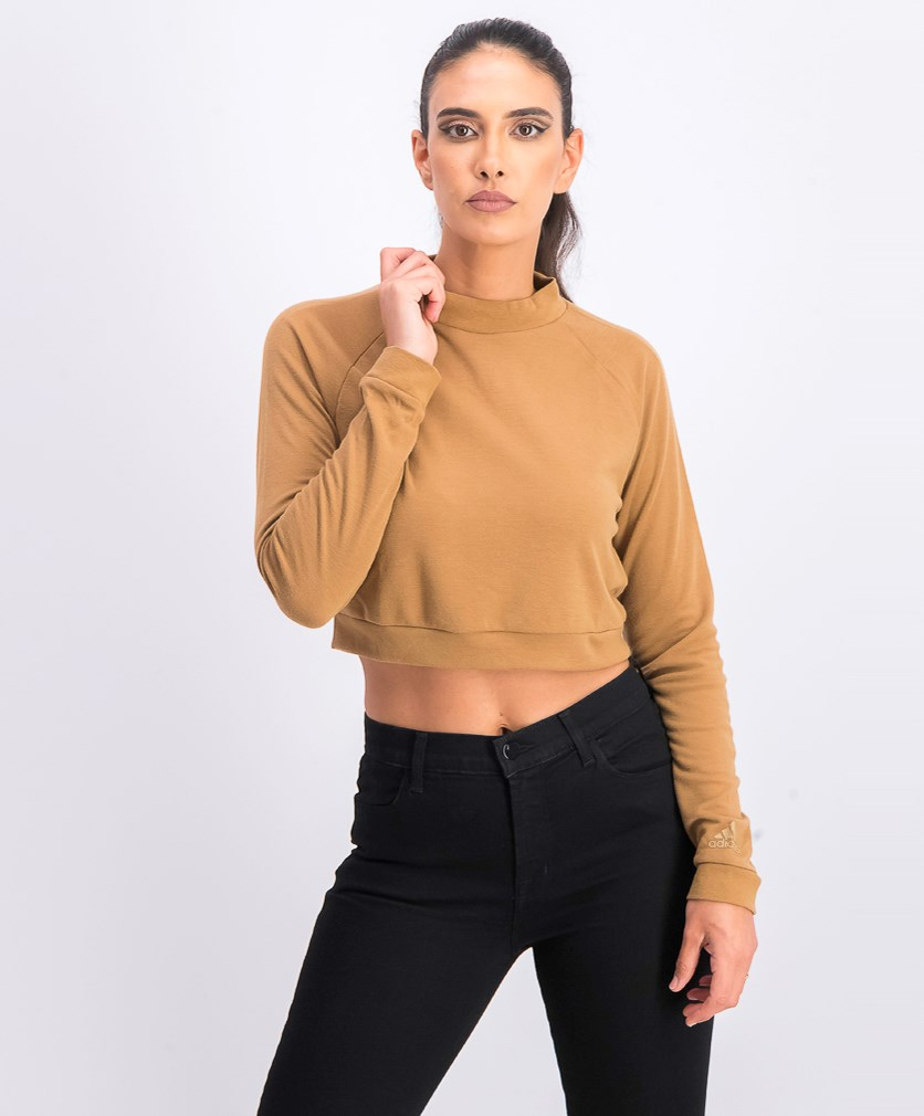 Women's Pullover Crop Top, Brown