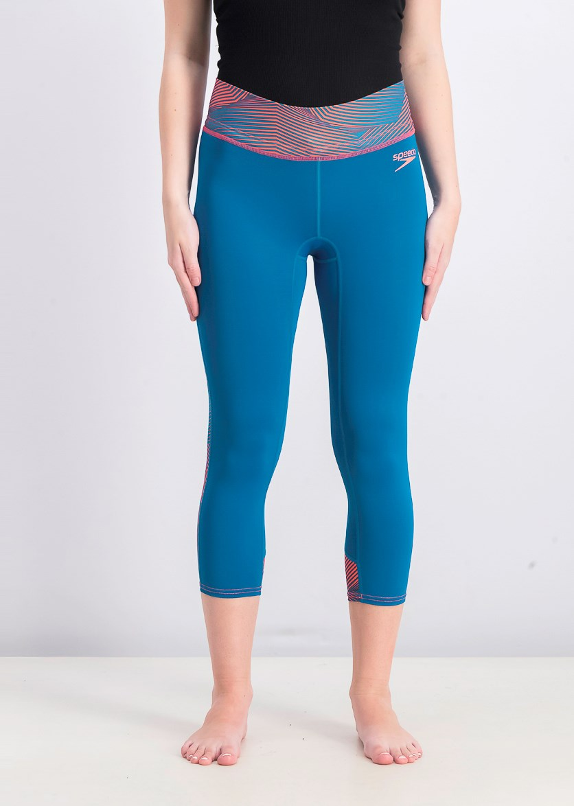 Women's 3/4 Length Pulse Pants, Ink Blue/Psyco Red