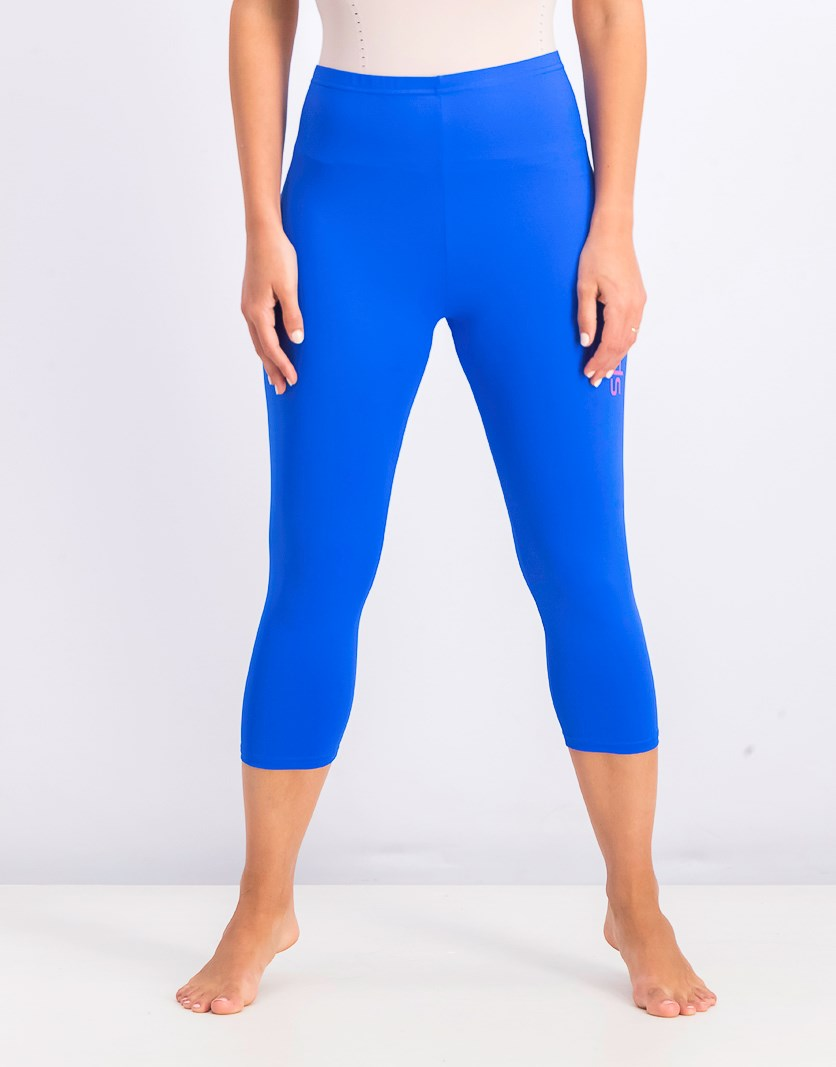 Women's Delight 3/4 Length Pants, Blue/Neon Orchid