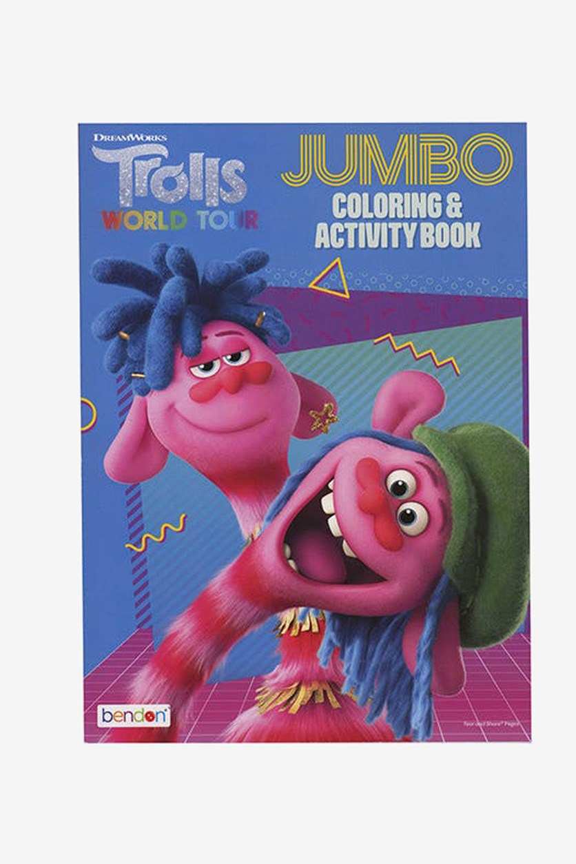 Jumbo Coloring & Activity Book, Blue/Pink