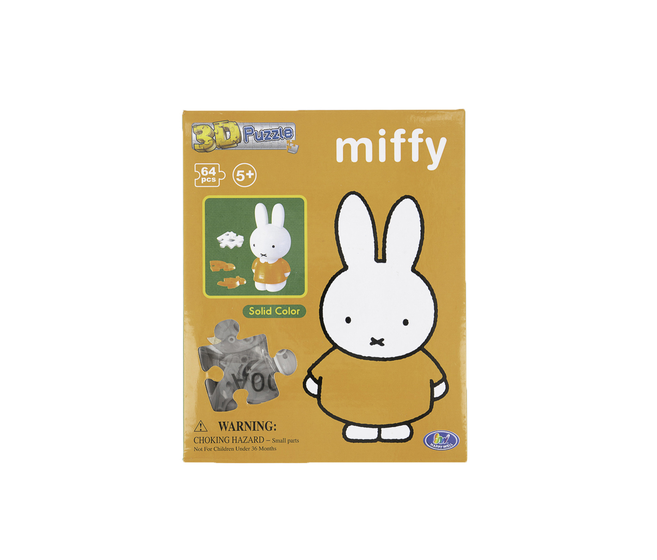 Miffy 3D Puzzle 64 Pcs, Orange