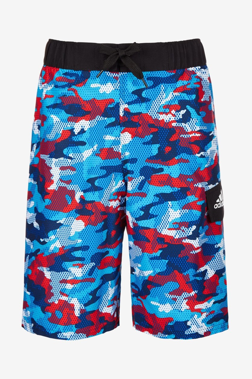 Big Boys Camophase Volley Board Short, Blue Combo