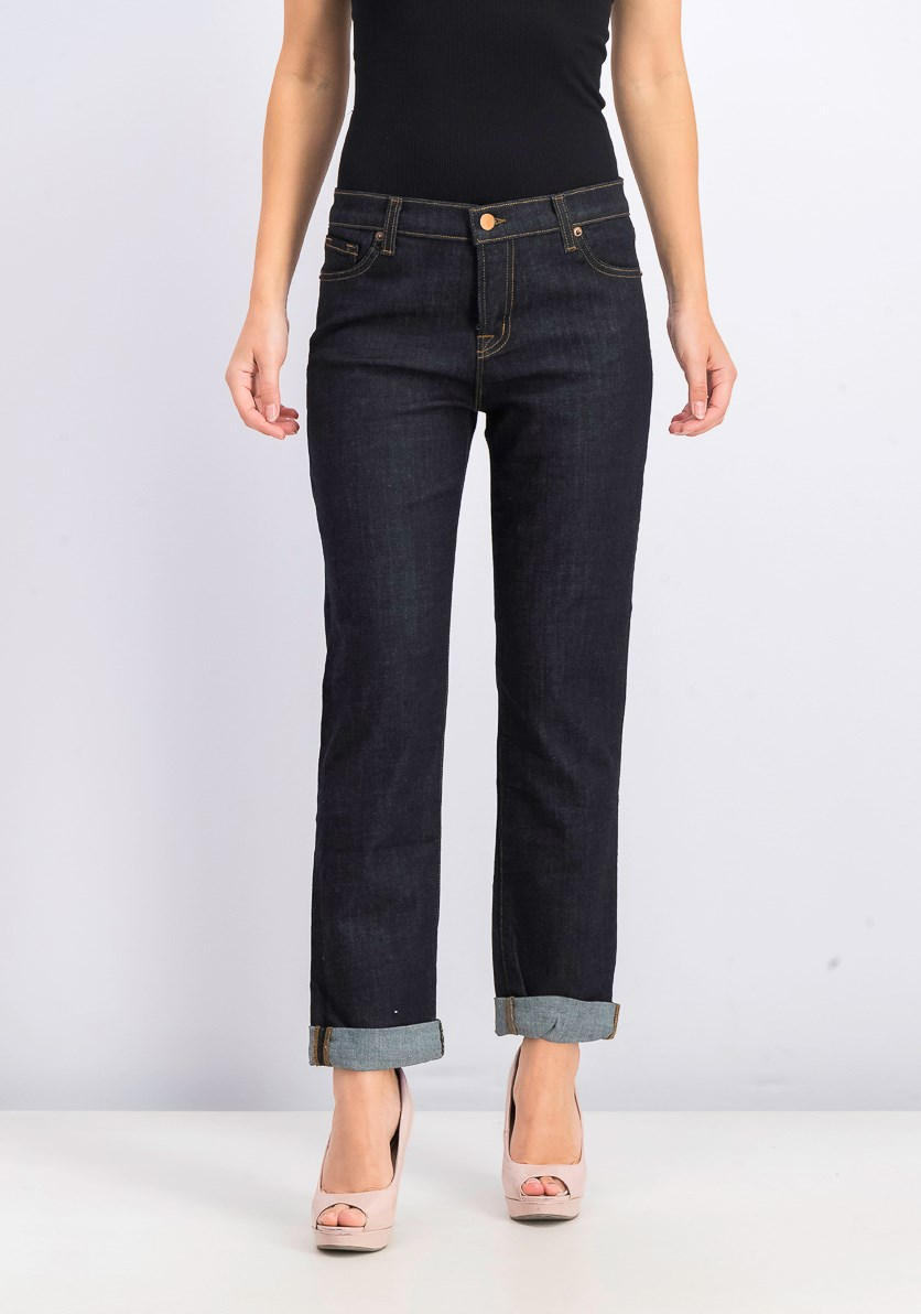 Women's Paragon Jeans, Washed Navy Blue