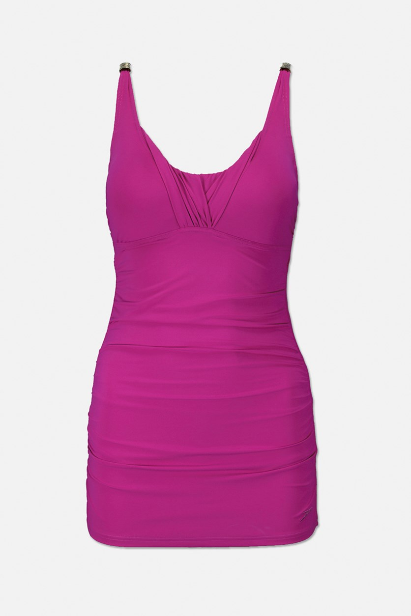 Women's 1 Piece Swimdress, Magenta