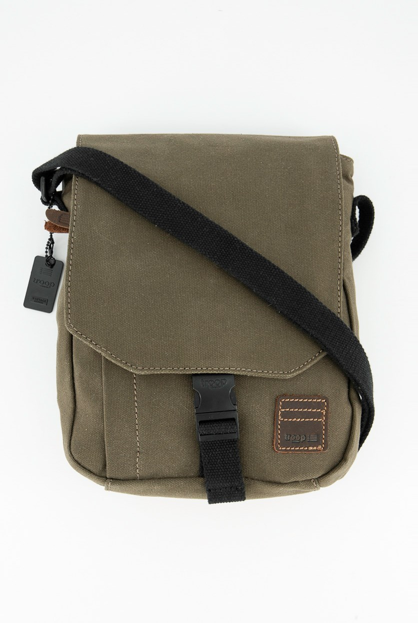Men's Heitage Waxed Canvas Across Body Bags, Olive