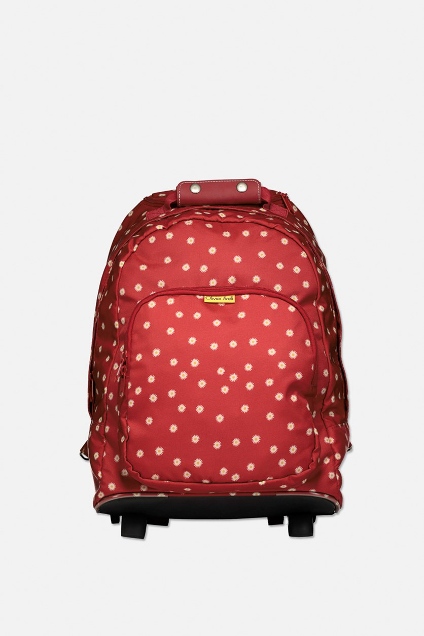 Girls Backpack Trolley, Red