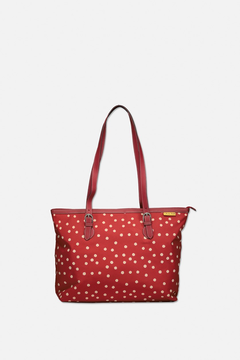 Womens Printed Totes, Red Combo