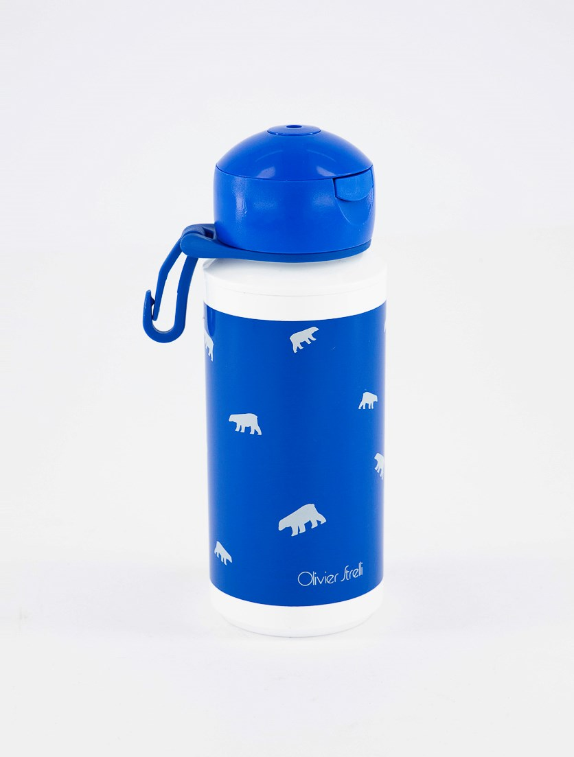 Campus Pop Up Drinking Bottle, Blue/White