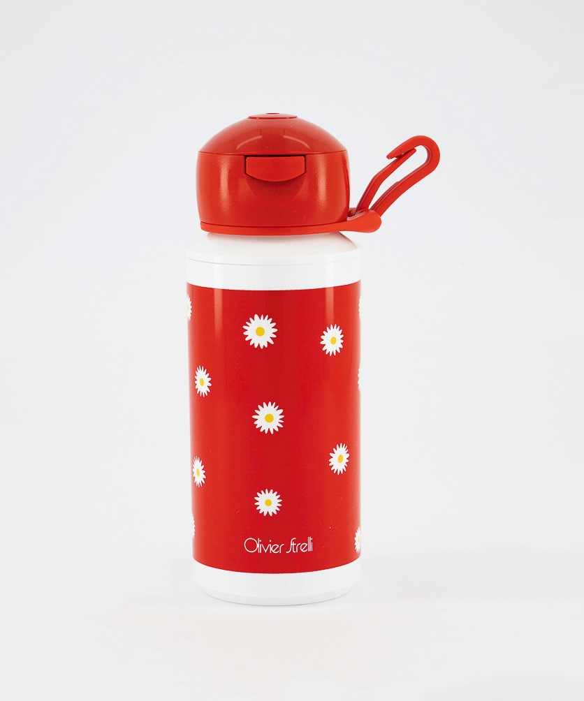 Campus Pop Up Drinking Bottle, Red/White
