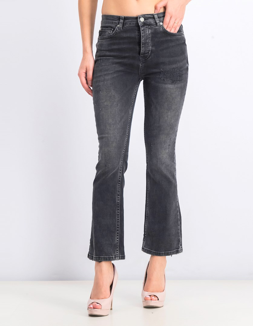 Women's Five Pocket Rip Jeans, Black
